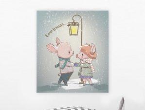 Παντοτινή αγάπη Παιδικά Πίνακες σε καμβά 50 x 50 cm
