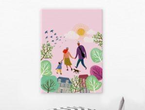 Άνοιξη Παιδικά Πίνακες σε καμβά 55 x 40 cm