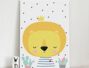 Σήμερα είμαι 10 μηνών Παιδικά Πίνακες σε καμβά 57 x 40 cm