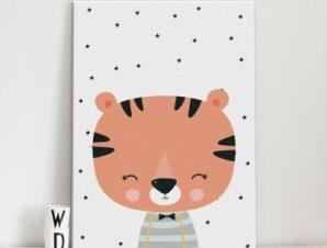 Σήμερα είμαι 12 μηνών Παιδικά Πίνακες σε καμβά 57 x 40 cm