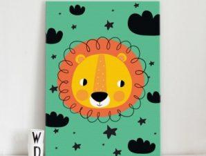Λιονταράκι Παιδικά Πίνακες σε καμβά 57 x 40 cm
