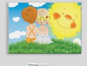 Παιδιά κάτω από τον ήλιο Παιδικά Πίνακες σε καμβά 40 x 60 cm