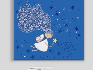 Μικρή νεράιδα χιονιού Παιδικά Πίνακες σε καμβά 49 x 55 cm
