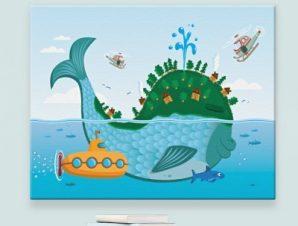 Μεγάλο Ψάρι Παιδικά Πίνακες σε καμβά 44 x 61 cm
