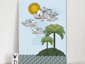Νησί Παιδικά Πίνακες σε καμβά 61 x 43 cm