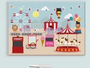 Χαρούμενη μέρα στο Λούνα παρκ Παιδικά Πίνακες σε καμβά 43 x 60 cm