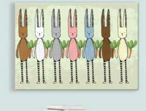 Κουνέλια και καρότα Παιδικά Πίνακες σε καμβά 43 x 60 cm