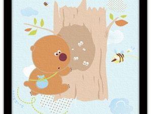 Γουίνι το αρκουδάκι Παιδικά Πίνακες σε καμβά 50 x 50 cm