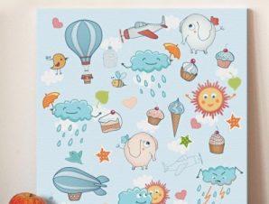 Χαρούμενη εκδρομή Παιδικά Πίνακες σε καμβά 50 x 50 cm