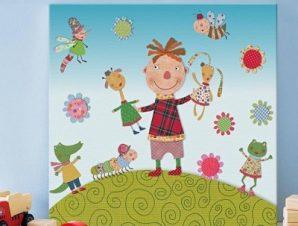 Χαρούμενο παιδάκι Παιδικά Πίνακες σε καμβά 49 x 53 cm