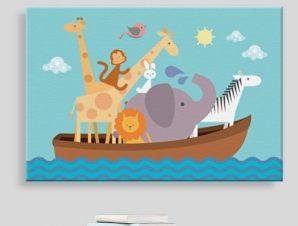 Κιβωτός του Νώε Παιδικά Πίνακες σε καμβά 41 x 61 cm