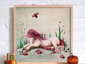 Μικρό χαριτωμένο πόνυ Παιδικά Πίνακες σε καμβά 53 x 48 cm