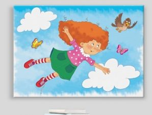 Χαριτωμένο κορίτσι Παιδικά Πίνακες σε καμβά 43 x 60 cm
