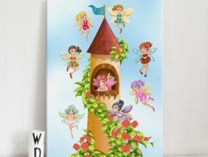 Κάστρο νεράιδων Παιδικά Πίνακες σε καμβά 59 x 44 cm