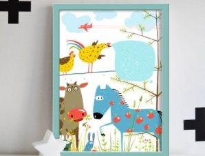Ζώα της φάρμας Παιδικά Πίνακες σε καμβά 59 x 44 cm