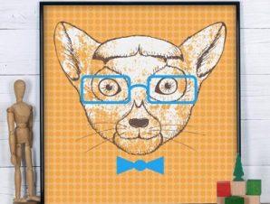 Λεμούριος Παιδικά Πίνακες σε καμβά 50 x 50 cm