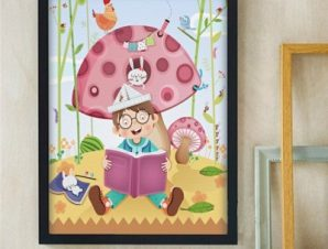 Παραμύθι Παιδικά Πίνακες σε καμβά 55 x 46 cm