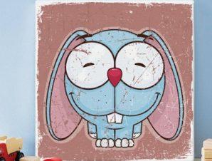 Χαριτωμένο Λαγουδάκι Παιδικά Πίνακες σε καμβά 50 x 50 cm