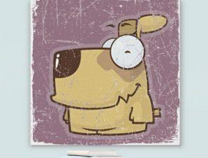 Σκυλάκι Παιδικά Πίνακες σε καμβά 50 x 50 cm