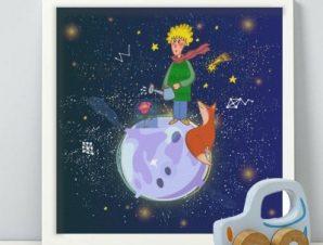 Μικρος Πρίγκιπας Παιδικά Πίνακες σε καμβά 50 x 50 cm