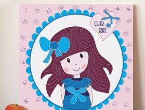 Χαριτωμένο κοριτσάκι Παιδικά Πίνακες σε καμβά 50 x 50 cm