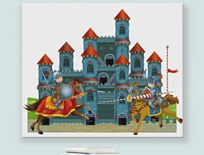 Κάστρο Παιδικά Πίνακες σε καμβά 48 x 56 cm
