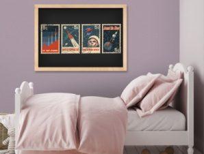 Στο διάστημα Παιδικά Πίνακες σε καμβά 24 x 60 cm