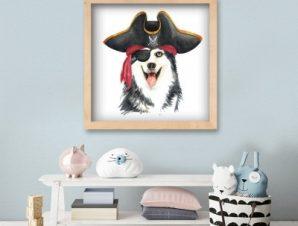Λύκος καπετάνιος Παιδικά Πίνακες σε καμβά 50 x 50 cm