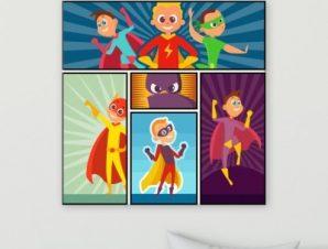 Υπερήρωες Παιδικά Πίνακες σε καμβά 50 x 50 cm