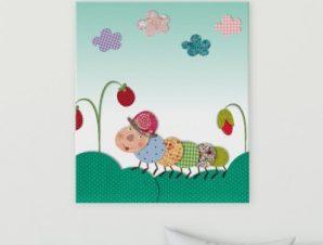 Σαρανταποδαρούσα Παιδικά Πίνακες σε καμβά 58 x 51 cm