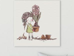 Φύτεμα βολβών Παιδικά Πίνακες σε καμβά 50 x 50 cm