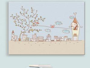Χαριτωμένη μικρή πόλη Παιδικά Πίνακες σε καμβά 46 x 60 cm