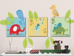Παιδικά Ζωάκια Παιδικά Πίνακες και αυτοκόλλητα 122×70