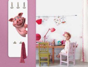 Happy pig Παιδικά Κρεμάστρες & Καλόγεροι 45 cm x 1.38cm