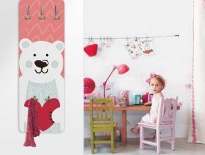 Xαριτωμένο Αρκουδάκι Παιδικά Κρεμάστρες & Καλόγεροι 45 cm x 1.38cm