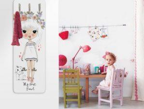 Xαριτωμένο Κοριτσάκι Παιδικά Κρεμάστρες & Καλόγεροι 45 cm x 1.38cm