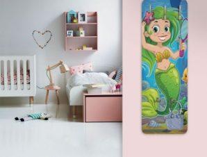 Μικρή γοργόνα πράσινη Παιδικά Κρεμάστρες & Καλόγεροι 45 cm x 1.38cm