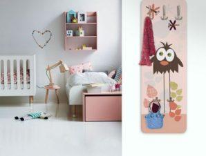 Πουλί και λιβελλούλες Παιδικά Κρεμάστρες & Καλόγεροι 45 cm x 1.38cm
