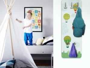 Πολύχρωμα αερόστατα Παιδικά Κρεμάστρες & Καλόγεροι 45 cm x 1.38cm