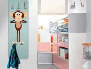 Αστείοι πίθηκοι Παιδικά Κρεμάστρες & Καλόγεροι 45 cm x 1.38cm