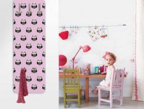Μοτίβο με κουκουβάγιες Παιδικά Κρεμάστρες & Καλόγεροι 45 cm x 1.38cm