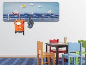 Καραβάκια και κύματα Παιδικά Κρεμάστρες & Καλόγεροι 45 cm x 1.38cm