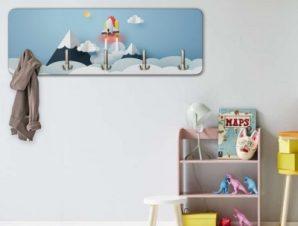 Space rocket Παιδικά Κρεμάστρες & Καλόγεροι 45 cm x 1.38cm