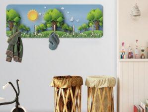 Δάσος το πρωί Παιδικά Κρεμάστρες & Καλόγεροι 45 cm x 1.38cm