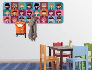 Παιδικό μοτίβο Παιδικά Κρεμάστρες & Καλόγεροι 45 cm x 1.38cm