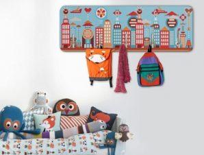 Μοντέρνα Πόλη Παιδικά Κρεμάστρες & Καλόγεροι 45 cm x 1.38cm