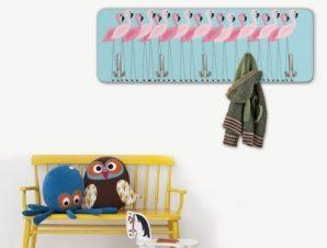 Φλαμίνγκο Παιδικά Κρεμάστρες & Καλόγεροι 45 cm x 1.38cm