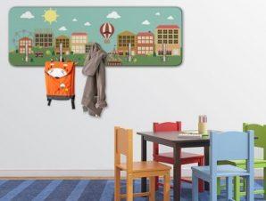 Μικρή χαρούμενη πόλη Παιδικά Κρεμάστρες & Καλόγεροι 45 cm x 1.38cm
