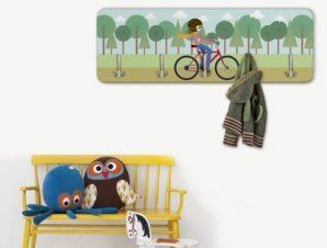 Κορίτσι με Ποδήλατο Παιδικά Κρεμάστρες & Καλόγεροι 45 cm x 1.38cm