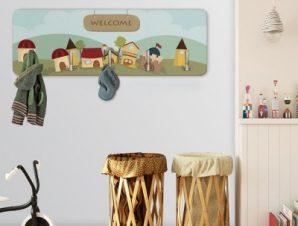 Χαρούμενο Χωριό Παιδικά Κρεμάστρες & Καλόγεροι 45 cm x 1.38cm